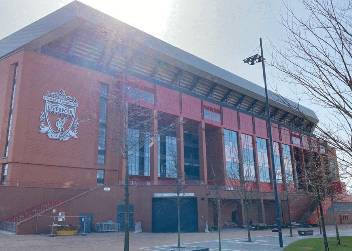 Liverpool Football Club Anfield Stadium on Liverpool Taxi Tour